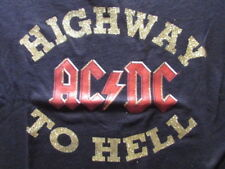 AC/DC HIGHWAY TO HELL SMALL ONE-SIDED KIDS SHIRT 2005 100% COTTON ROCKWARE OOP