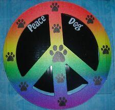 "CAR MAGNET ""PEACE PAWS""  RAINBOW COLORS"