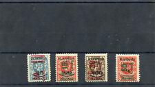 MEMEL, LITHUANIAN OCC Sc N87-90(MI 230-3)**F-VF NH 1923 SET, SCARCE, $2500