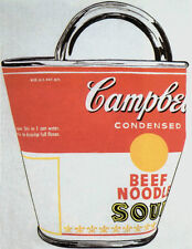 ANDY WARHOL - Soup Can Bag Campbell's Beef Offset Lithograph ART PRINT POSTER