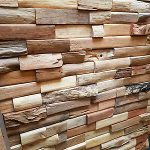 Wandverblender Seawood 2x5 Wandverkleidung Paneele Altholz Treibholz rustikal