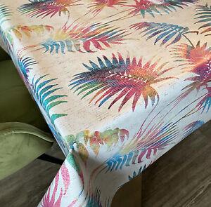 Wachstuch Tischdecke NEU Palma weiß bunt • Länge&Breite wählbar • PVC abwaschbar