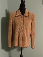 St. John Couture by Marie Gray  Brown Tweed Boucle Jacket/Blazer Size 12
