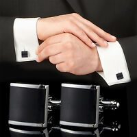 Black Stainless Steel Mens Wedding Party Gift Shirt Cuff Links-Cufflinks·New