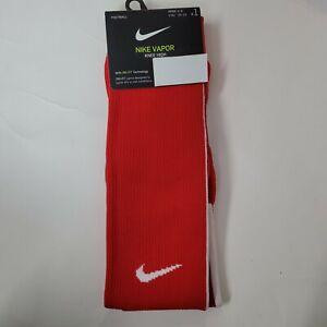 Nike Vapor Knee High Football Soccer Socks Sz Youth 3-5Y Womens 4-6 Red