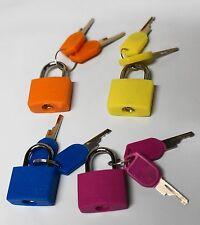 Set of 4 Padlocks Keyed Alike 20mm Suitcase Lock Small Padlock Same Key