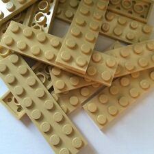 LEGO New Lot of 12 2x8 Tan Flat Tile Building Plate Pieces Cars Base Parts 2 X 8