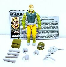 GI JOE 1990 Captain Gridiron with file card and accessories