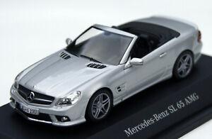 Mercedes SL 65 AMG R230 Bj. 2008-2011, silbermetallic, Minichamps-Modell M. 1:43