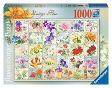 Ravensburger 19514 Vintage Flora Botanical 1000 Piece Adults Jigsaw Puzzle - New