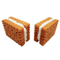 Cute Pencil Biscuit Sandwich and eraser For Student Kids Gifts Office Stationery