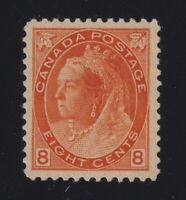 Canada Sc #82 (1898) 8c orange Queen Victoria Numeral Mint VF NH