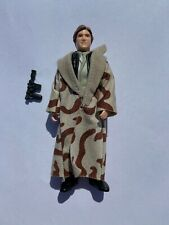 Vintage Star Wars Han Solo Trench Coat Endor Complete Authentic Blaster 1984