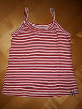 Jako-O Top T-Shirt Shirt Mädchen weiß - rot  Gr 128 / 134 ( 122 - 134 ) neuwert.
