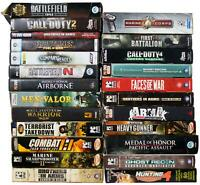 LOT Of 24 PC GAMES In ORIGINAL BOXES Shooter War Combat Call Of Duty Tom Clancy