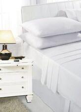 Draps-housses blanches modernes pour le lit Chambre