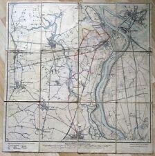 Karte von Cüstrin und Umgebung 1919 Reitwein Rathstock Kostrzyn Neumark