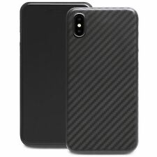 Ultra Thin Slim Hard Case Cover Carbon Design Cover For Apple iPhone X / XS