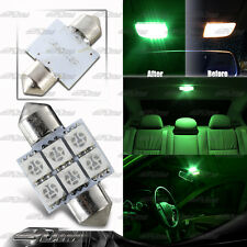 31mm Festoon Bright 6-SMD LED Glove Box/Dome/Map Single Light Bulb - Green