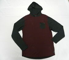 Billabong Men Large Zenith Pullover Wine  Hood Long Sleeve