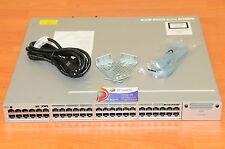 CISCO WS-C3850-48P-E Switch 48x1GE PoE w/racks 6MthWtyTaxInv