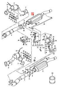 Genuine AUDI A8 S8 quattro 4E2 4E8 Diesel Particulate Filter right 4E0254850BX