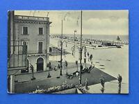 Cartolina Riccione - Piazzale al mare - 1952.