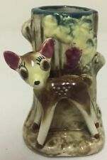 "VINTAGE ""BAMBI"" DISNEY LOG / TREE STUMP VASE (not stamped) in EXC"