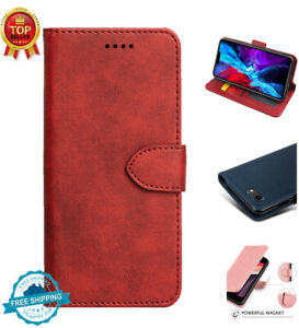 For iPhone 11 Pro Max 7/8/SE 2020 Magnetic Wallet Case Flip Cover