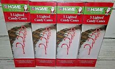 """20 New Lighted 12"""" Christmas Candy Cane Pathway Markers Lights"""