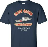 USCGC DUANE  WPG-33 *COAST GUARD  VINYL PRINT SHIRT/SWEAT