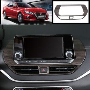 For Nissan Teana Altima 2019-2020 Wood grain central console Navigation trim 1pc