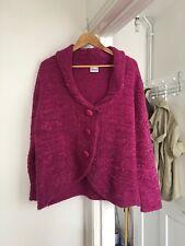 Wardrobe Size Uk 16/18 Pink Long Sleeve Cardigan.   (a9)