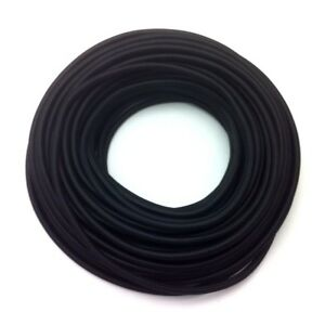 Textilkabel 1-adrig, 1,5mm², schwarz, rund, Einzelader, Lampenkabel einadrig,1a