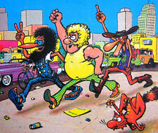 """3"""" Fabulous Furry Freak Brothers STICKER. Salute Vintage comics. For bong, pipe"""