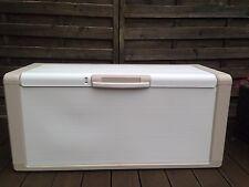 Grande scatola di immagazzinaggio di petto 300L 118 x 49 x 55 cm crema
