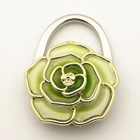 NEW Women's Folding Handbag Bag Table Hook Hanger Holder 2 in 1 Accessory