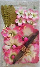 45 STK madera flores 4cm rosa streudeko centro de mesa madera flores flores flores madera