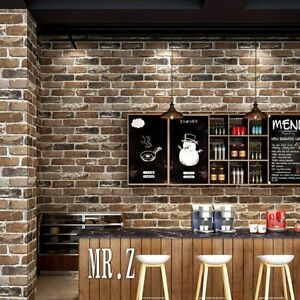 Faux Old Stone Brick Wall Roll Peel & Stick Wallpaper 3D Living room Home Decor