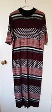 NWT H&M Purple Pink Striped Woven Pattern Maxi Shirt Dress 2XL $49.99 Sold Out