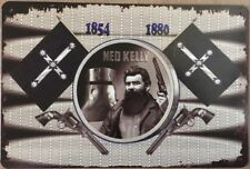 Ned Kelly Memorabilia Rustic Look Vintage Tin Signs Man Cave, Shed & Bar Sign