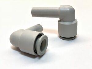 Lot of 7 SMC Plug-in Elbow: KQ2L , SMC KQ2L10-99 * 10mm Ports M/F *NEW*
