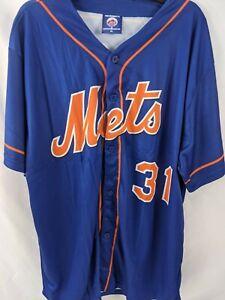New York Mets Jersey Men's XL Baseball MLB Blue Shirt Short Sleeve NEW 1157
