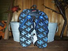 UNIVERSITY OF KENTUCKY LADIES FLIP FLOPS SIZE SMALL 5-6 WOMENS CASUAL SUMMER NEW