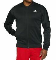 adidas Mens Athletics Team Issue Fleece Bomber Black Full Zip DH9080 L-XL NWT