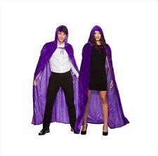 Deluxe Adult Long Velvet Velour Hooded Cape Cloak Halloween Fancy Dress Costume
