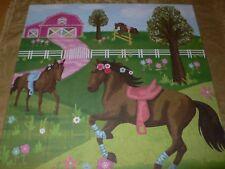"Oopsy Daisy Pretty Horses Canvas Wall Art 21"" x 21"" Wall Art For Kids Girls Room"
