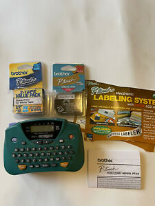 Brother Model PT-65 P-Touch Home & Hobby Handheld Label Maker w/ Tapes C10