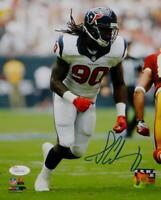 Jadeveon Clowney Autographed 8x10 Vertical Against Redskins PF Photo- JSA W Auth