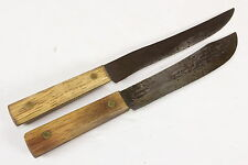 Lot of 2 Tru Edge Ontario Knife Co Old Hickory USA Vintage Knife Knives